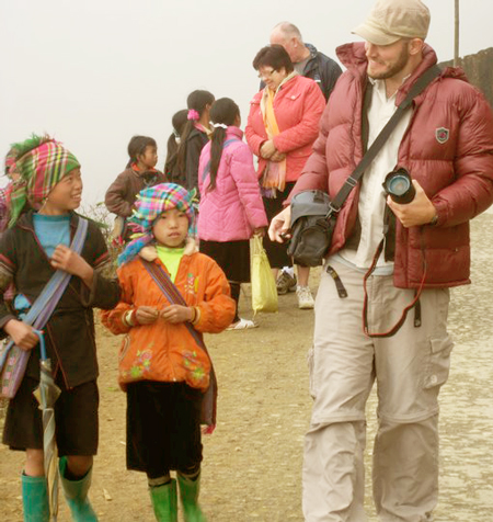 David with the Hmong people of Vietnam